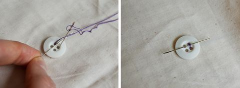 How to Sew a Button and Repair a Hem