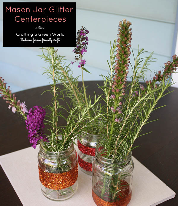 Mason Jar Centerpieces that Sparkle!