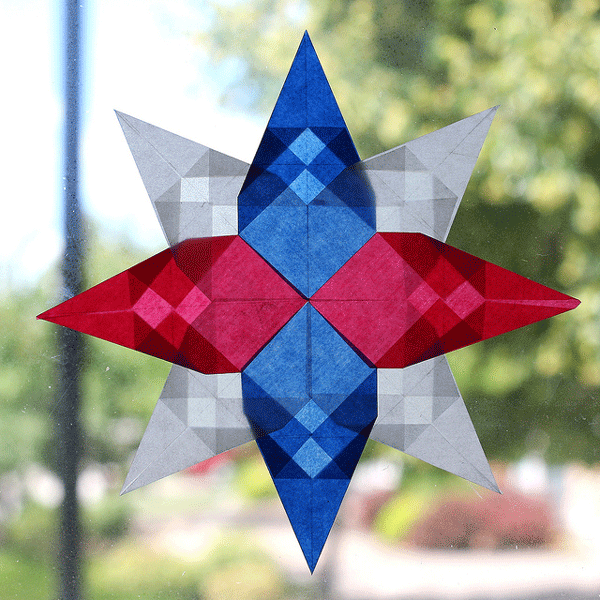 4th of July Window Star