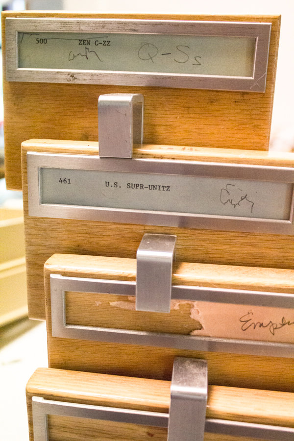 Card Catalogue to Studio Storage