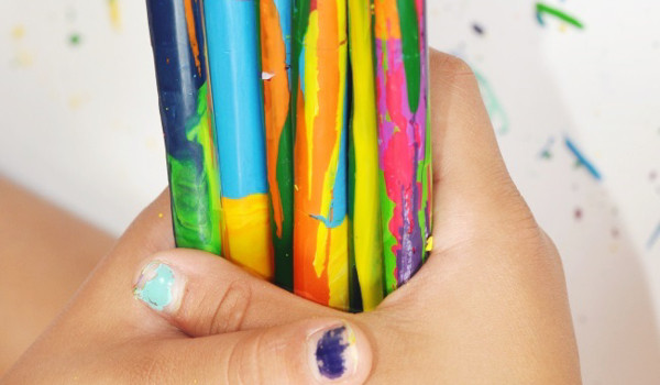 Crayon Wands from Kids Activities Blog