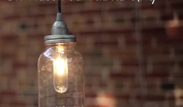 Make a DIY Pendant Light From a Mason Jar