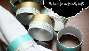 DIY Napkin Rings from a Paper Tube and Washi Tape