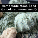Rainy Day Activities for Toddlers: Make Moon Sand