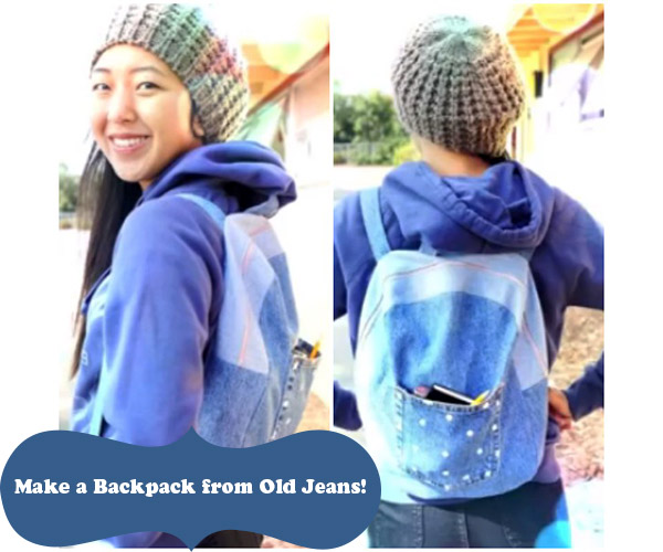 How to Make a Backpack from Old Jeans for Back to School 70e18c57fb55e