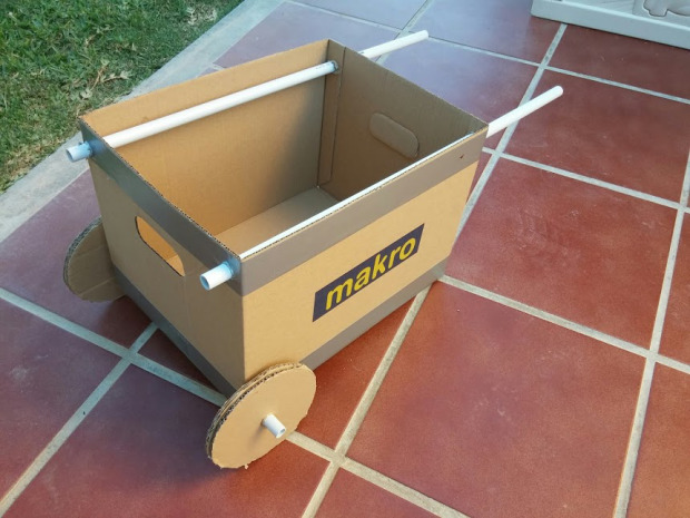 Cardboard Wheelbarrow and other Cardboard Toys
