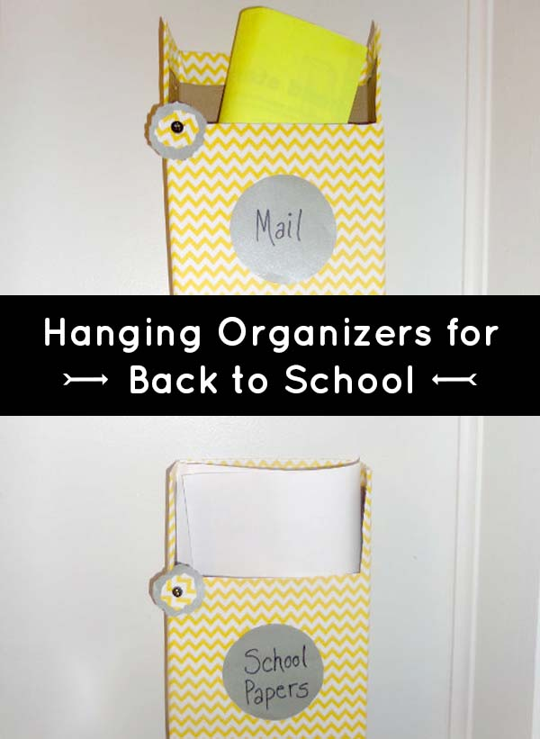diy organization make a hanging wall file from old cereal boxes