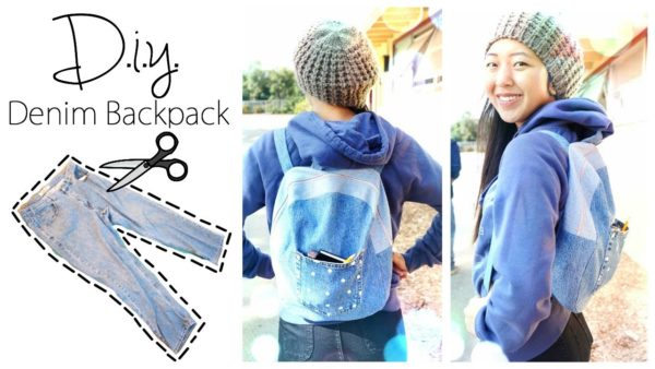 DIY School Supplies: Upcycled Backpack