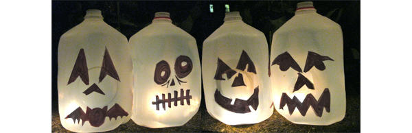 diy halloween decorations jug o lanterns