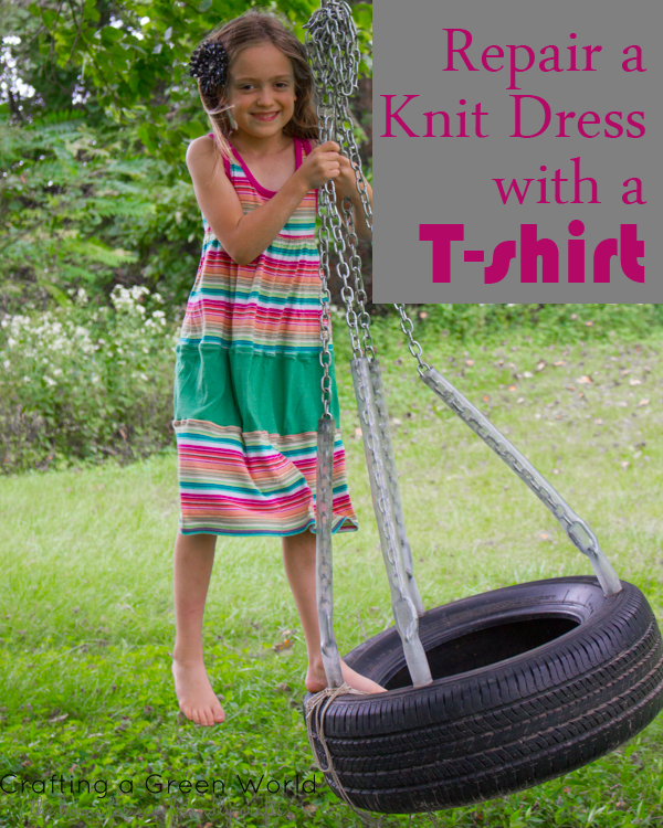Repair a Knit Dress with a T-shirt