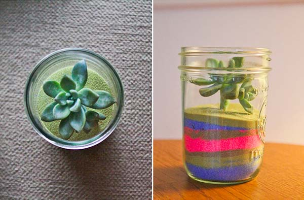 DIY Sand Art Terrarium by Kelly Christine Musgraves