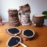 Wood Slice Chalkboards