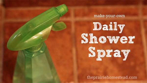 Handmade Cleaning Supplies: DIY Shower Spray