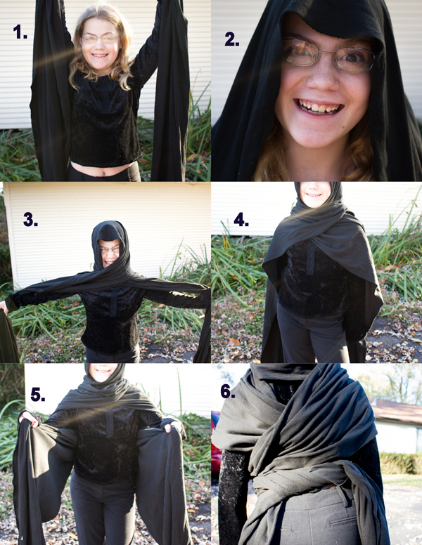 Make a No-Sew Hood from a Babywearing Wrap
