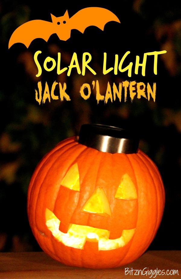 Solar Light Jack-o-Lantern and other Halloween Crafts