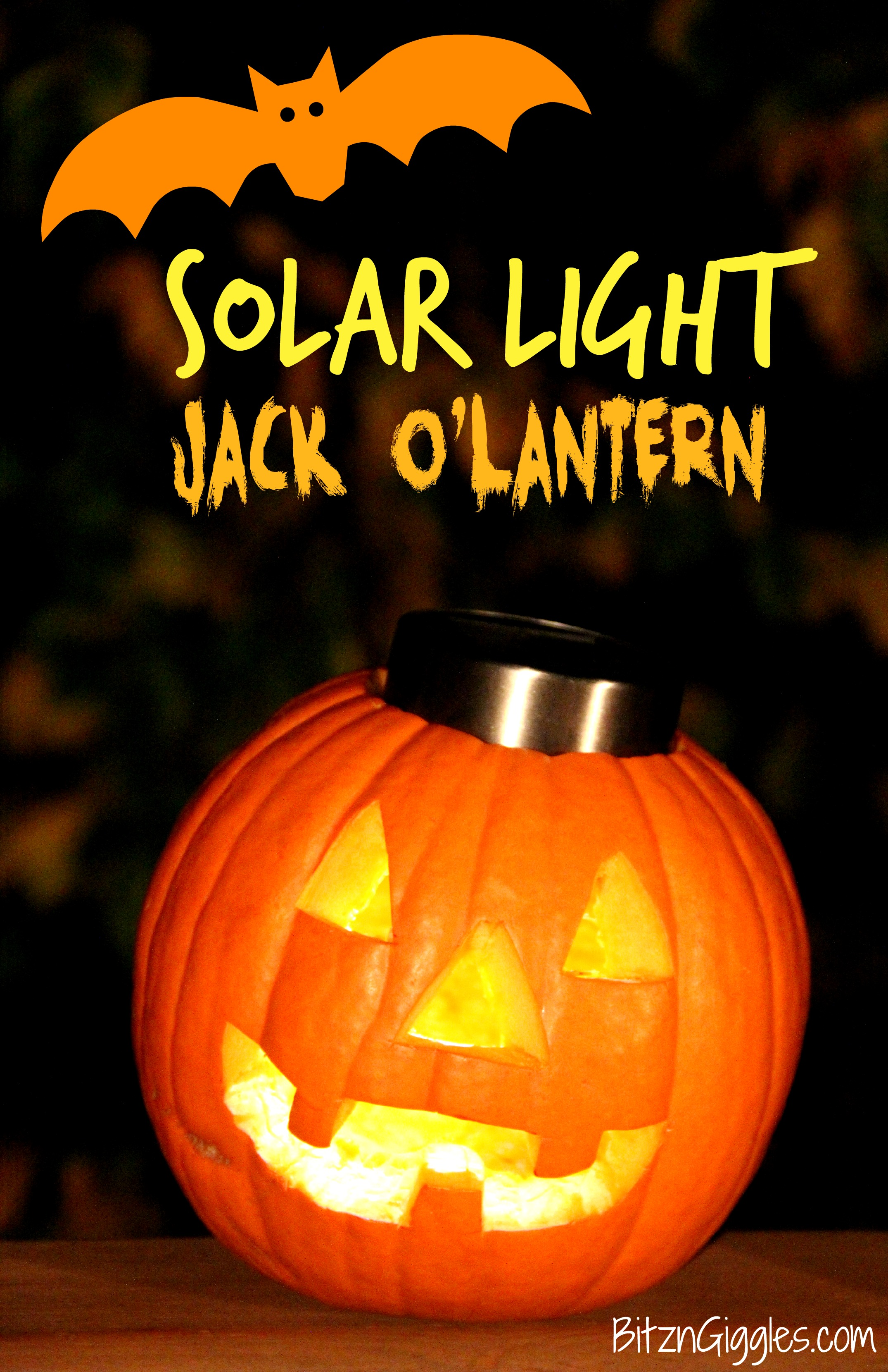 Solar Light Jack-o-Lantern