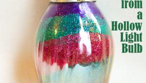Hollow Light Bulb Christmas Ornament