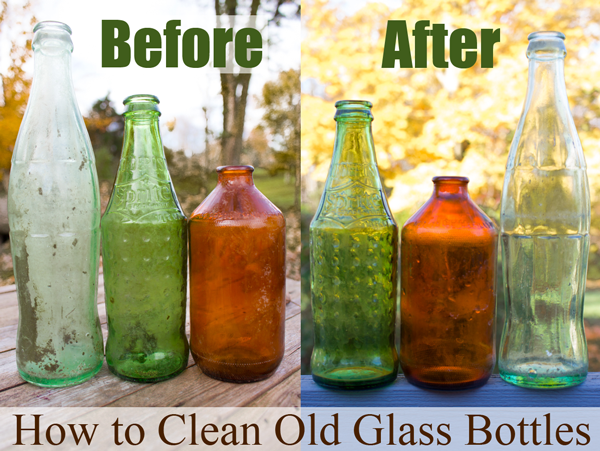 How to clean old glass bottles Painting old glass bottles