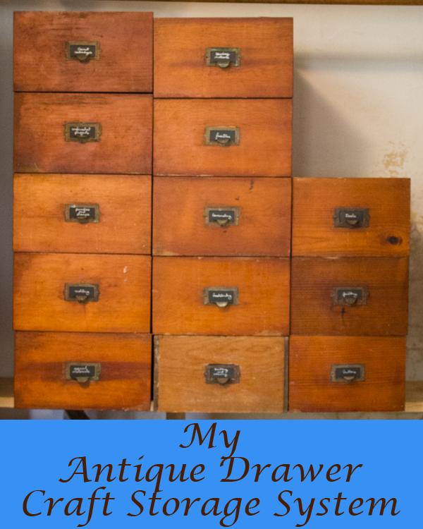Antique Drawer Craft Storage System