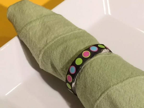 Thanksgiving DIY: Napkin Rings from Shower Curtain Rings