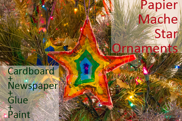 Papier Mache Star Ornaments
