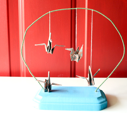 10 Wrapping Paper Crafts to Use Up that Gift Wrap: Paper Crane Desktop Mobile