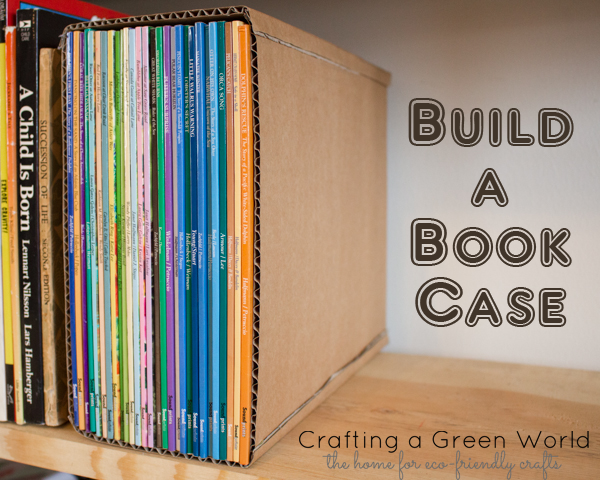 Organizing Books with a DIY Cardboard Book Case