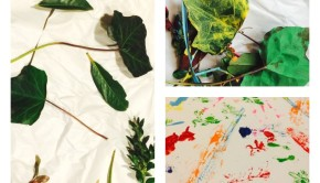 Winter Craft for Kids: Make Leaf Art!