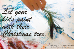 Nature Crafts for Christmas: Tree Branch Paintbrushes