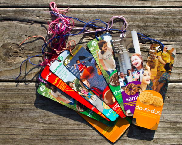 Make Bookmarks from Girl Scout Cookie Boxes