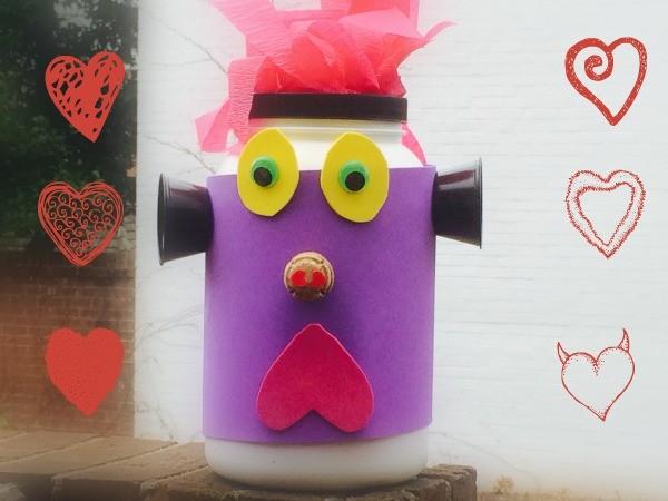 Valentine Mailbox Craft: Make a Valentine MONSTER!