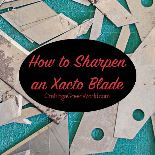 How to Sharpen an Xacto Knife with Sandpaper
