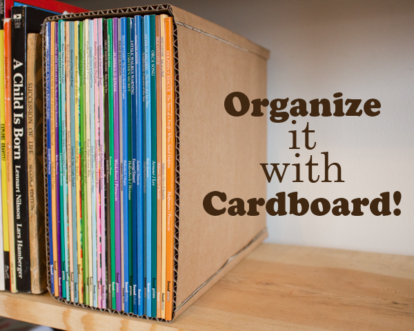 Organize It With Cardboard Upcycled Organization Projects