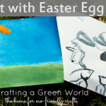 Did you know that you can paint with Easter egg dye? The result is similar to watercolor painting, and it's a great way to use up leftover dye after you're done with your eggs.
