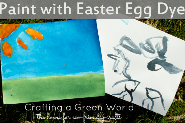 Egg Dye Watercolor - Did you know that you can paint with Easter egg dye? The result is similar to watercolor painting, and it's a great way to use up leftover dye after you're done with your eggs.