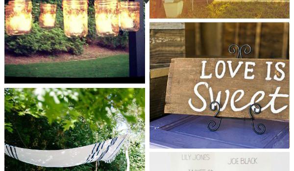 15 Outdoor Wedding Ideas you Can Make Yourself