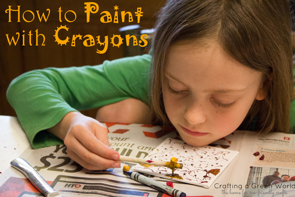 how to paint with crayons crafting a green world