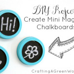 DIY Magnets: Make DIY Mini Magnetic Chalkboards from Mason Jar Lids
