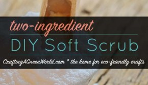A lot of homemade soft scrub recipes call for toxic ingredients like bleach. This is the easiest, most budget-friendly homemade soft scrub that you can make. And it works like a charm!
