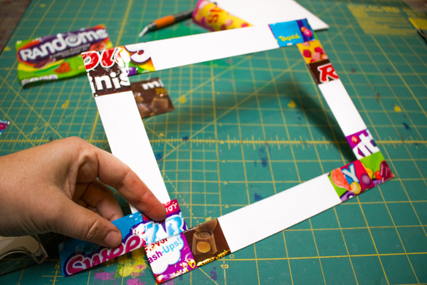 Candy Wrapper Picture Frame