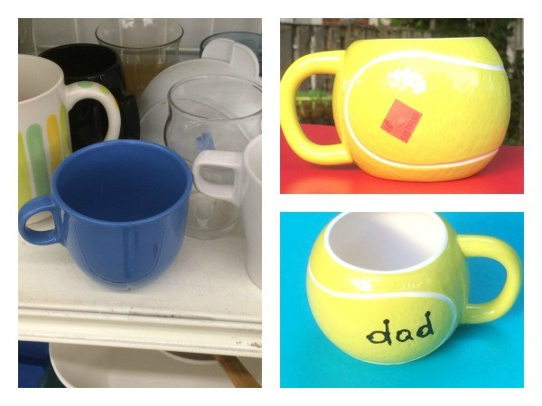 This adorable Father's Day craft only cost a buck! And you only need two supplies to make it. It's time for a mug makeover for dear old dad!