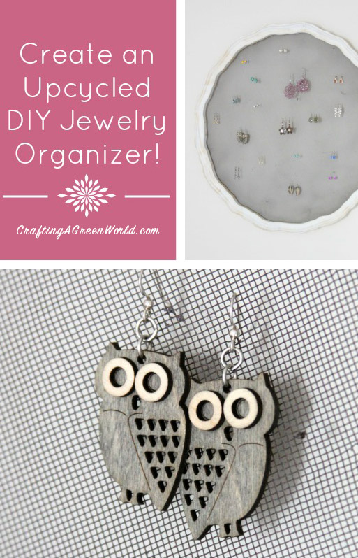 Create an Upcycled DIY Jewelry Organizer - I found the coolest upcycled project at a garage sale and had to share it with you guys! I want to be up front and say that I didn't create this organizer — I simply painted it. Even so, it was too awesome not to share!
