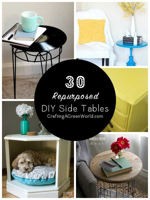 Reuse Furniture 30 diy side table ideas: reduce, reuse, redecorate!