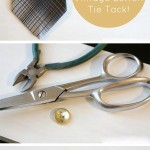 DIY Tie Tack from a Vintage Button - This cute, DIY tie tack makes a great Father's Day gift, or you can give one to a tie-wearing fella in your life, just because.