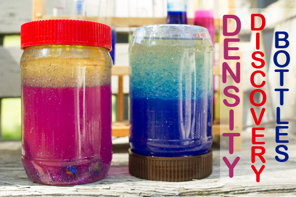 DIY Density Discovery Bottles - Use any old water-tight bottles you have on hand to create density discovery bottles for your budding scientist.