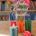 How to Make Poured Candles - There are lots of different ways that you can make a candle. Here's how to make candles using poured beeswax that you dyed yourself!