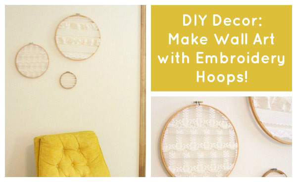 If you want DIY decor on a budget, you'll love this tutorial: create do it yourself wall art with old embroidery hoops and vintage lace!