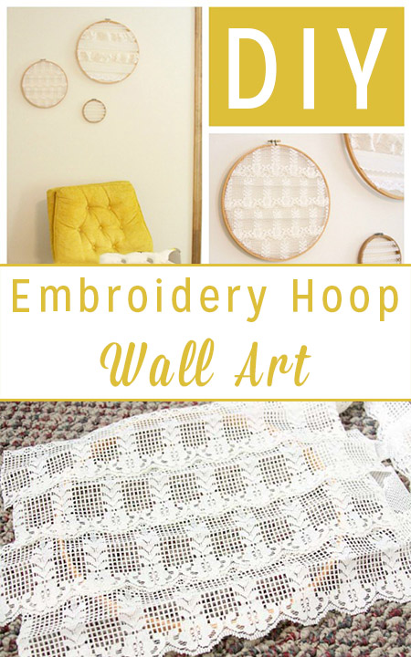 Do it Yourself Wall Art from Old Embroidery Hoops