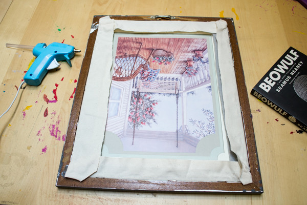 Upcycle an Empty Picture Frame into Fabric Art