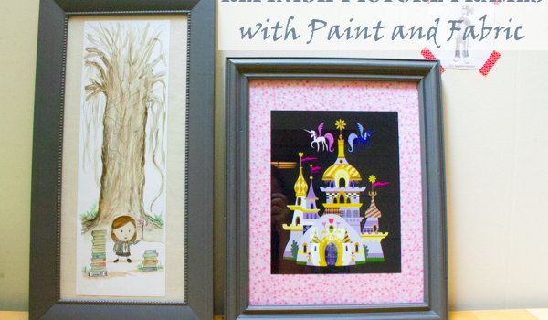 Refinish a Picture Frame with Paint and Fabric